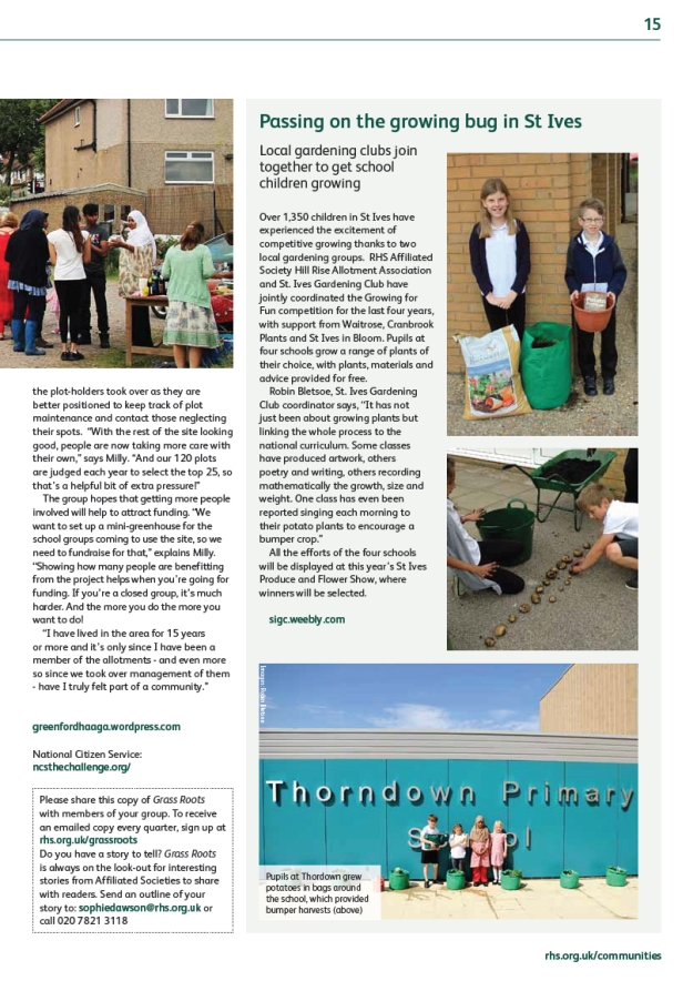 RHS magazine write up 2